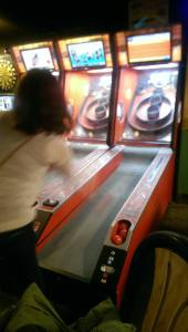 Skeeballin' at the speed of light! #whereismyarm